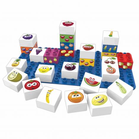 27 blocs de construction ECO - les fruits - à partir de 18 mois