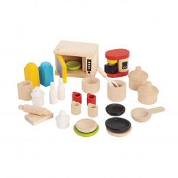 Accessoires pour cuisine bois maison poupée - à partir de 3 ans