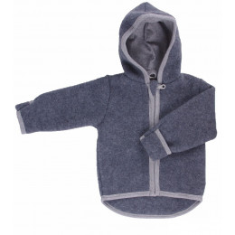 Gilet veste à capuche - Polaire de laine - Anthracite