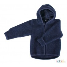 Gilet veste à capuche - Polaire de laine - Jeans
