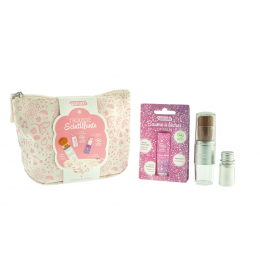 Trousse scintillante rose - maquillage naturel et ludique