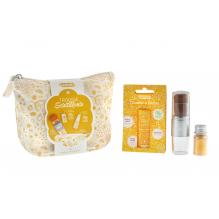 Trousse scintillante dorée - maquillage naturel et ludique