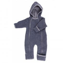 Combinaison intégrale en polaire de laine pour bébé - Anthracite
