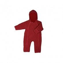Combinaison intégrale en polaire de laine pour bébé - Cassis