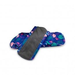 Kit complet - serviettes hygiéniques lavables - Minky flamants roses