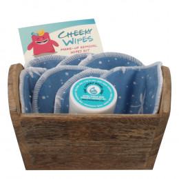 Kit de lingettes démaquillantes lavables - Libellules bleues