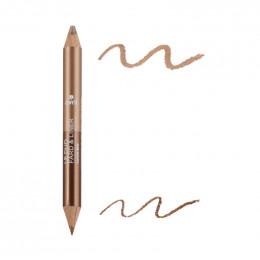 Duo fard et liner Bio Bronze cuivre / Beige doré