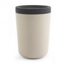 Gobelet en bambou avec couvercle - 350 ml - Blanc cassé