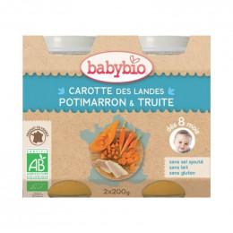 Carotte, potimarron et truite - dès 8 mois - 2 x 200 g