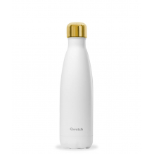 Bouteille nomade isotherme - 500 ml - Blanc mat bouchon gold