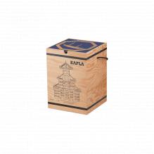 Mallette en bois avec 280 kaplas + 1 livre d'art bleu - à partir de 8 ans