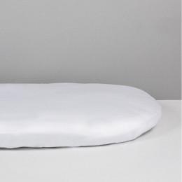 Alèse + drap housse 2 en 1  pour lit bébé - 50 x 100 cm - blanc
