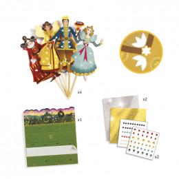 DIY marionnettes à décorer - Cendrillon