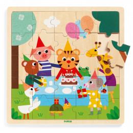 Puzzle éducatif bois - Happy