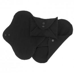 Serviettes lavables - coton BIO - REGULAR - Noir - pack de 3
