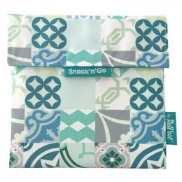 Pochette lavable et réutilisable Snack'n'Go - Patchwork Green