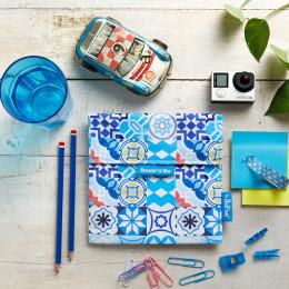 Pochette lavable et réutilisable Snack'n'Go - Patchwork Blue