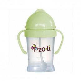 Gobelet avec paille  Sans BPA ni phtalate - Vert pâle - 180 ml