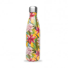Bouteille nomade isotherme - 500 ml - Tropical jaune