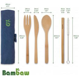 Set de couverts en bambou - Océan