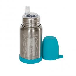 Gourde Sippy Inox - gravure Ours bleu glacier - 350 ml