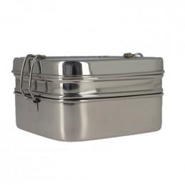 Boîte en inox Tiffin carrée XL à 2 étages - 1400 ml