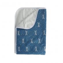 Tapis couverture de change - Bleu Libellules