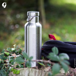 Gourde Isotherme Groovy Inox - gravure Gaspajoe - 500 ml