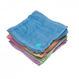 Kit TE1 lingettes lavables - bambou éponge Terry - Arc en ciel pastel - Lavande