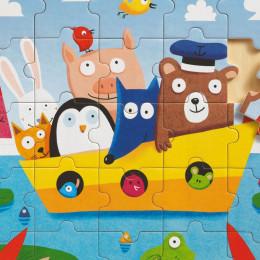 Puzzle éducatif bois - Bateau