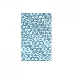 Furoshiki 24 x 24 cm - Vagues turquoises
