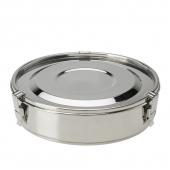 Assiette en inox avec compartiments amovibles et couvercle hermétique