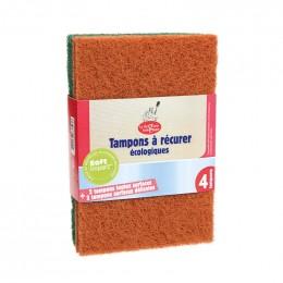 2 tampons à récurer toutes surfaces et 2 surfaces délicates