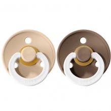 Set de 2 tétines BIBS phosphorescentes - vanilla & dark oak