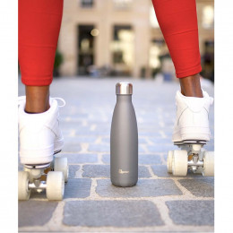 Bouteille nomade isotherme - 500 ml - Granite gris