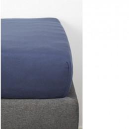 Drap Housse en Coton Bio pour lit bébé - 70x140 cm - Bleu marine