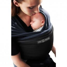 Echarpe porte-bébé: bleu nuit / noir **