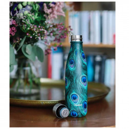Bouteille nomade isotherme - 500 ml - Paon green