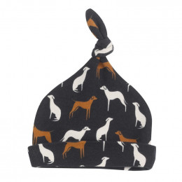 Bonnet en coton BIO - Dogs navy