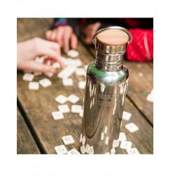 Gourde bouteille en inox  - 800 ml - bouchon bambou