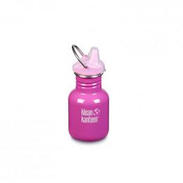 Gourde bouteille en inox - 355 ml - Bouchon bec de transition - Bubble gum