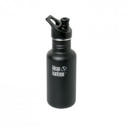 Gourde bouteille en inox  - 532 ml - Bouchon sport - Black