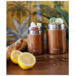 Travel soupe isotherme inox - Wood brun - 340ml