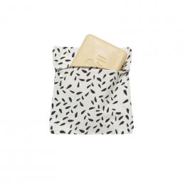 Pochon pochette pour savon ou shampooing solide - coton Bio enduit