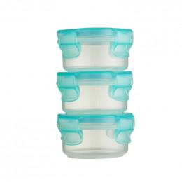 3 petites boîtes rondes avec couvercles - 90 ml