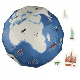 Globe terrestre 3D à assembler - à partir de 7 ans