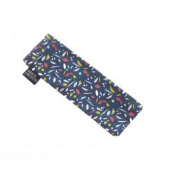 Mini trousse - 8 x 23 cm - Bleu canard