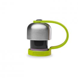 Bouchon avec attache silicone pour gourde Qwetch inox isotherme 260 et 500 ml - Vert