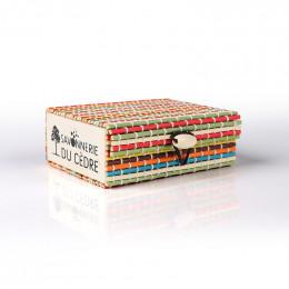 Boîte à savon en bambou - Multicolore
