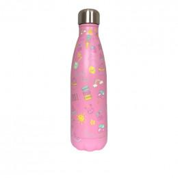 Gourde bouteille en inox - Pink Girly - 500 ml